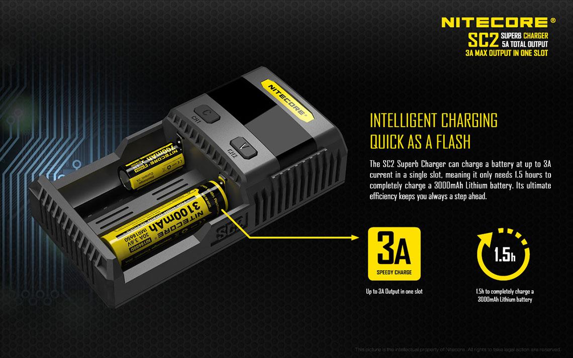 Sc2 Charger Batre Vapor 2 Slot Non Kabel